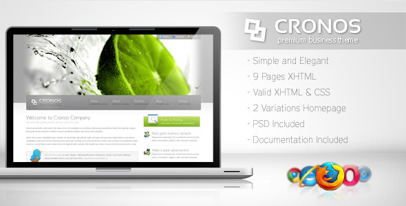 ThemeForest Cronos Premium Business Template 104117