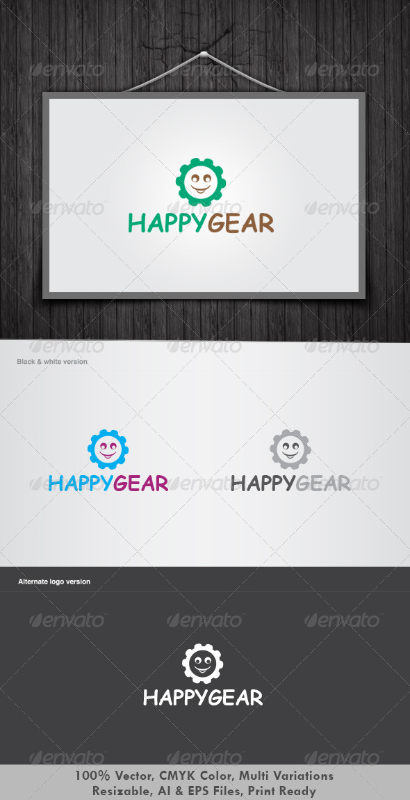 Happy Gear Logo - Vector Abstract