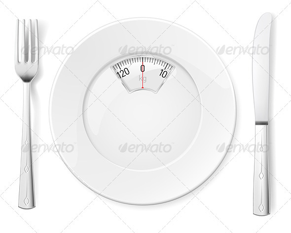 Plate with knife and fork