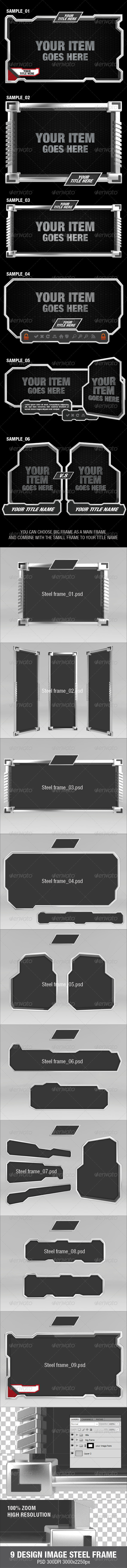 GraphicRiver 9 Design Image Steel Frame 2893080