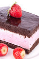 Cake with strawberries and chocolate. - PhotoDune Item for Sale