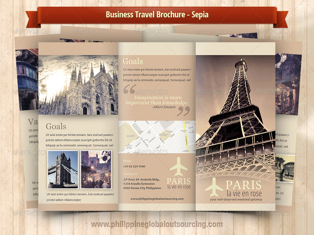 Business Travel A4 Trifold Brochure 5 Variations#3 - GraphicRiver ...