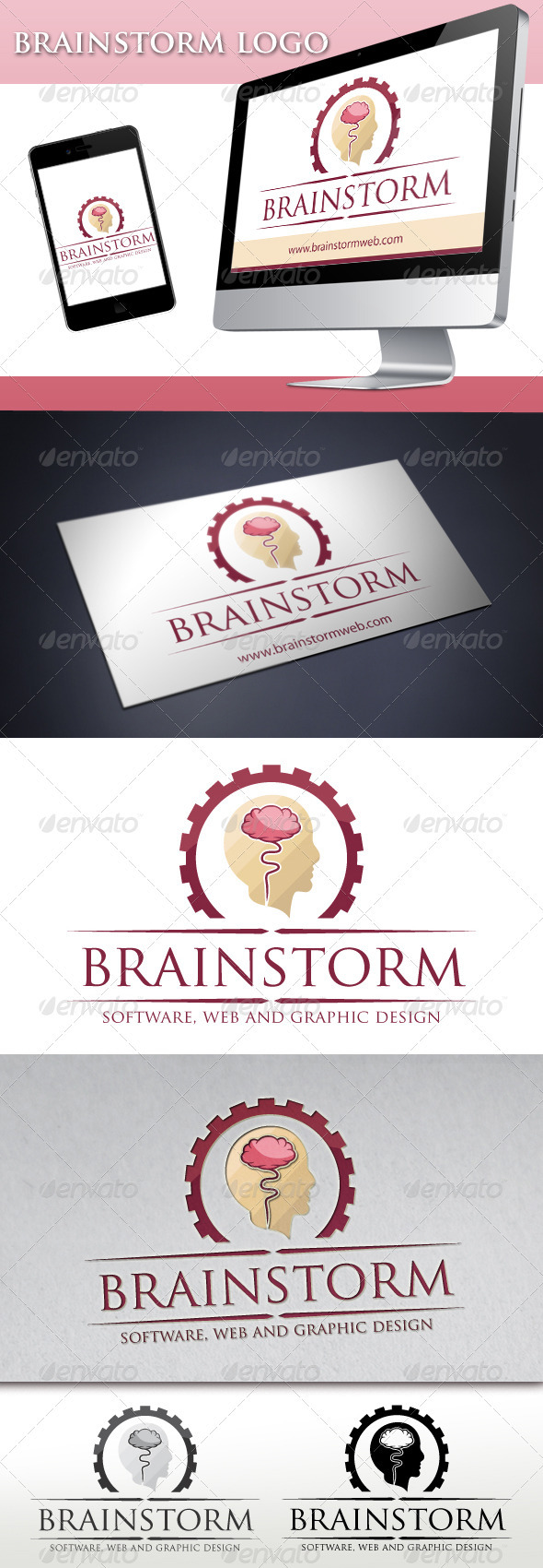 Brainstorm Logo 1 - Humans Logo Templates