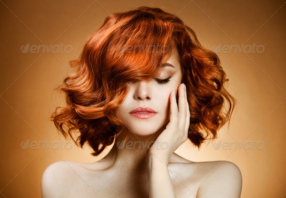 PhotoDune Beauty Portrait Curly Hair 2917544