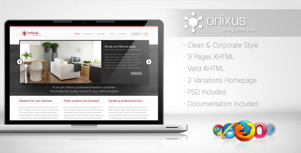 ThemeForest Onixus Corporate Business Template 3 99492