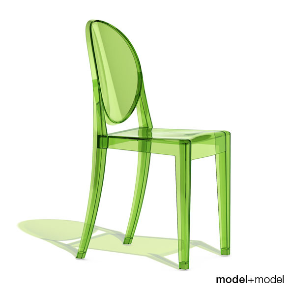 3DOcean Kartell Victoria Ghost chair 305561
