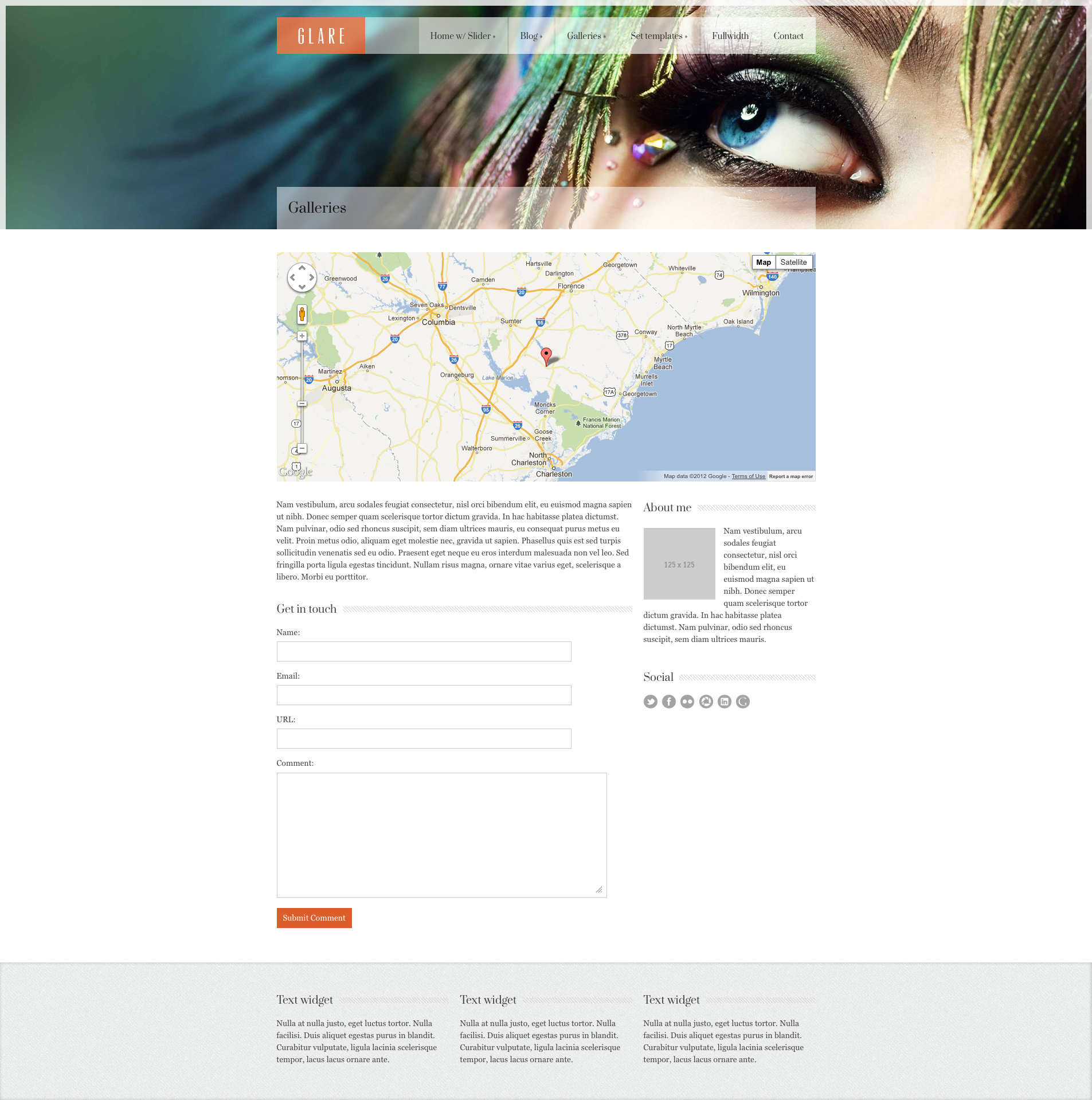 Glare - Photography Portfolio Site Template