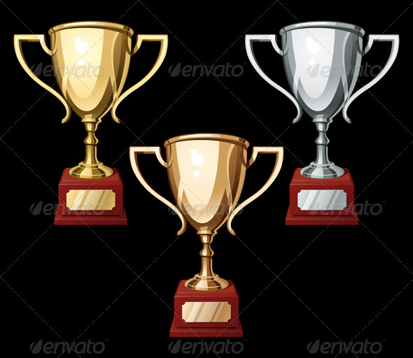 Set of Three Sport Cups - Miscellaneous Vectors