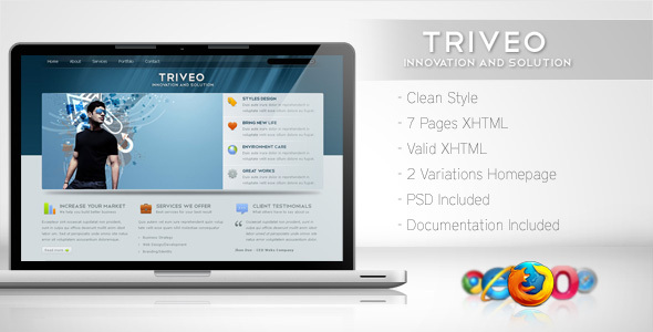 ThemeForest Triveo Clean Business Template 3 91670