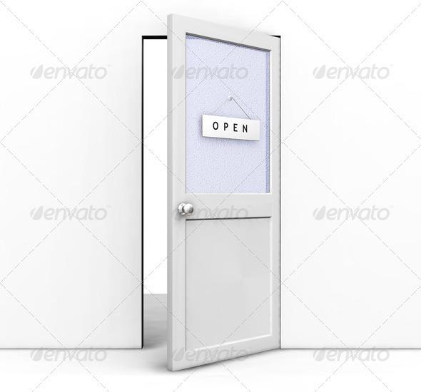 Open door - Architecture 3D Renders