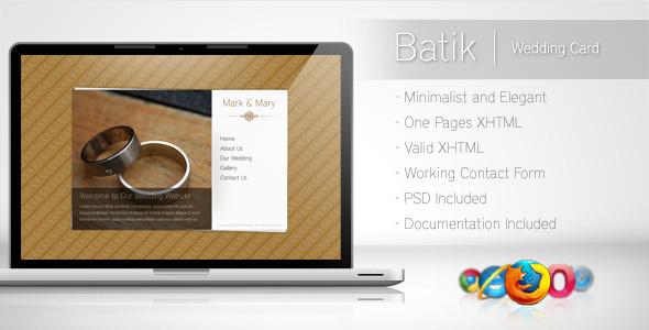 ThemeForest Batik Minimalist Wedding Card 87795