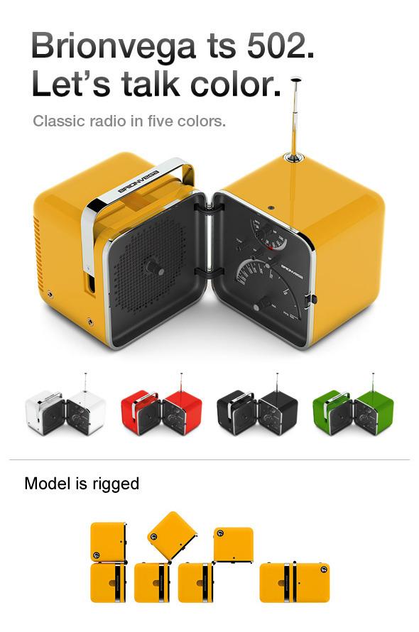 3DOcean Brionvega TS 502 radio 120013