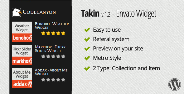 CodeCanyon Takin Envato Widget 2572880