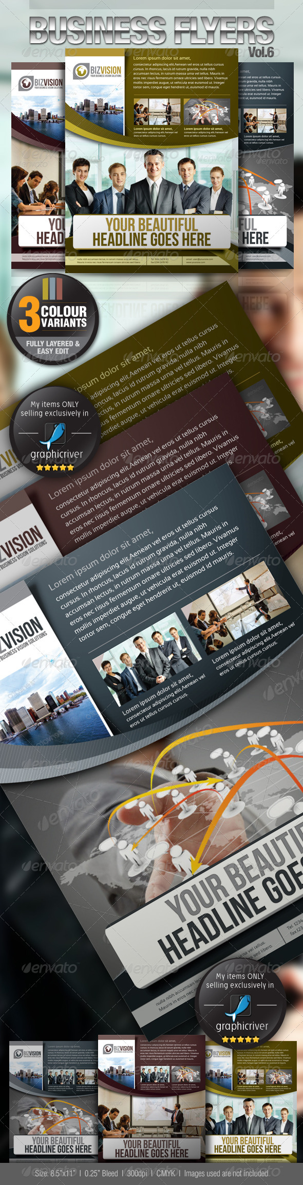 Simple & Clean Corporate Flyer Vol.6 - Corporate Flyers
