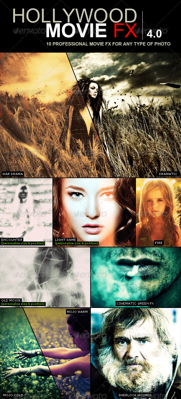 Hollywood Movie FX 4.0   10 Amazing Efects - Photo Effects Actions