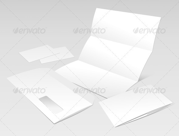 Letter, Envelope, Business Cards and Booklet - Miscellaneous Vectors