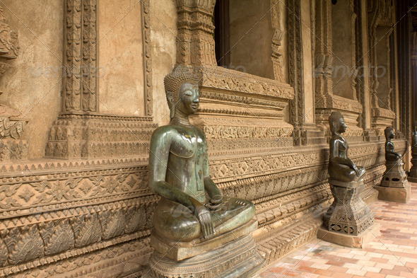 Buddha statue at Loas - Stock Photo - Images