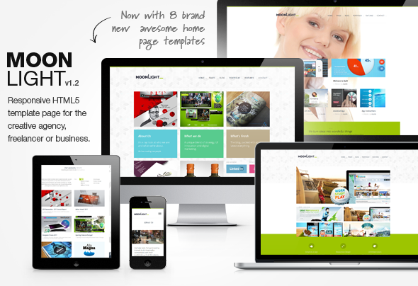MoonLight > Responsive HTML Template