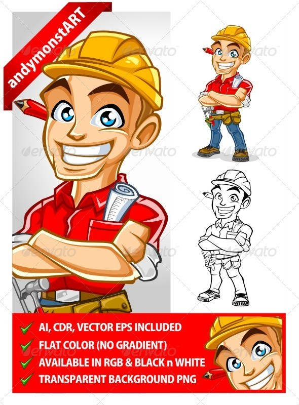 Contractor mascot - People Characters