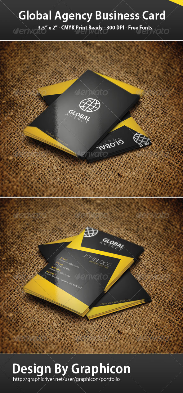 Creative Agency Business Card - Creative Business Cards