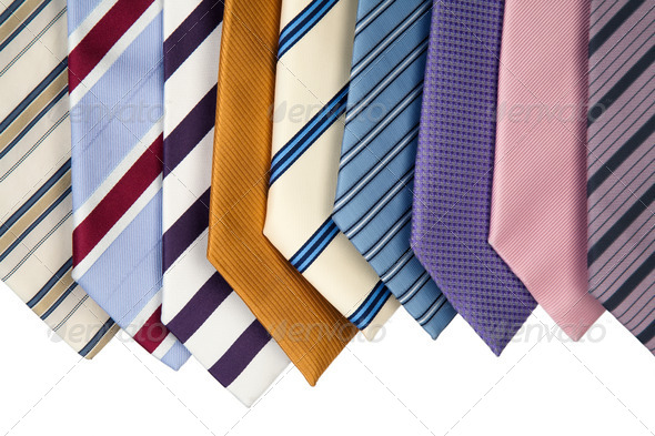 Collection Of Neckties - Stock Photo - Images