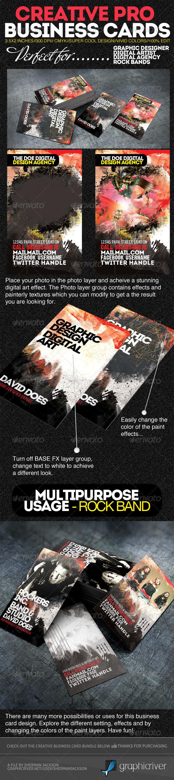 GraphicRiver Creative Pro Designer Business Cards PSD Template 2918755