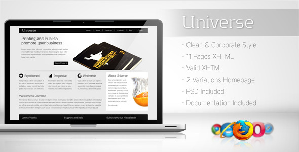 ThemeForest Universe Corporate Business Template 2 85247