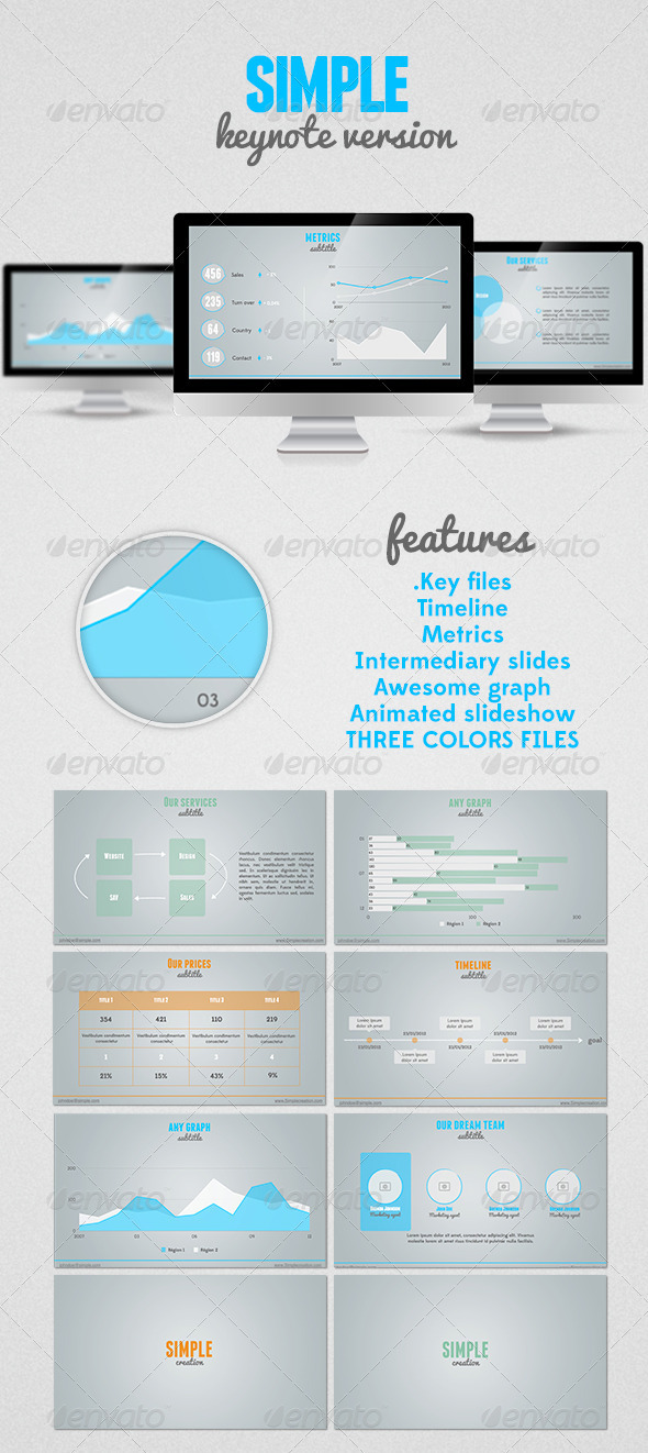 SIMPLE Keynote presentation - Keynote Templates Presentation Templates