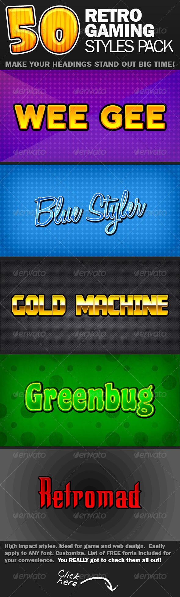 50 Retro Gaming Text Styles - Text Effects Styles