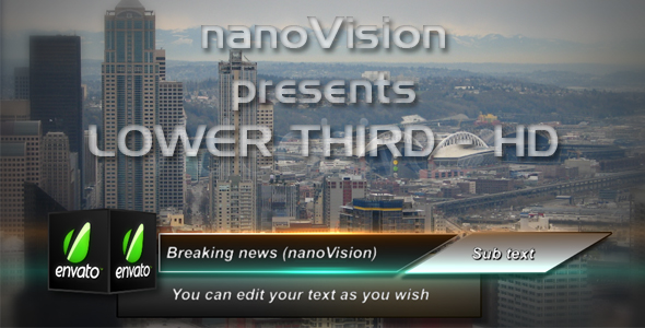 After Effects Project - VideoHive Cube Lower Third 104624