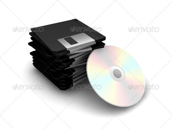 Floppy disks and CD
