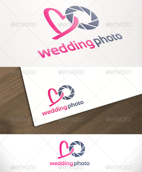 Wedding Photo Studio Photography Logo Template