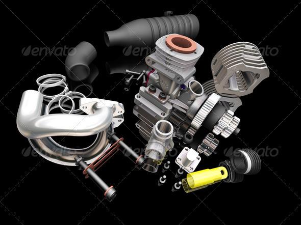 Car engine - Technology 3D Renders