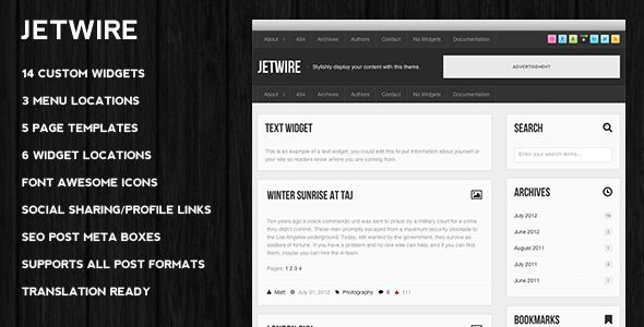 Jetwire - A New Powerful Blogging Premium WordPress Theme