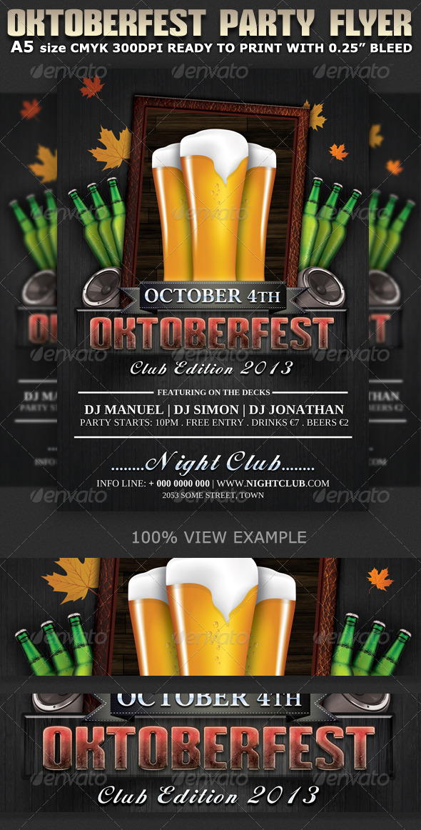 Oktoberfest Club-Party Flyer Template - Clubs & Parties Events