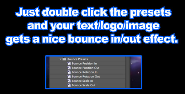 After Effects Project - VideoHive Bounce Presets 305969