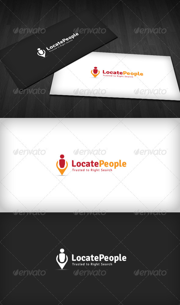 Locate People Logo - Humans Logo Templates
