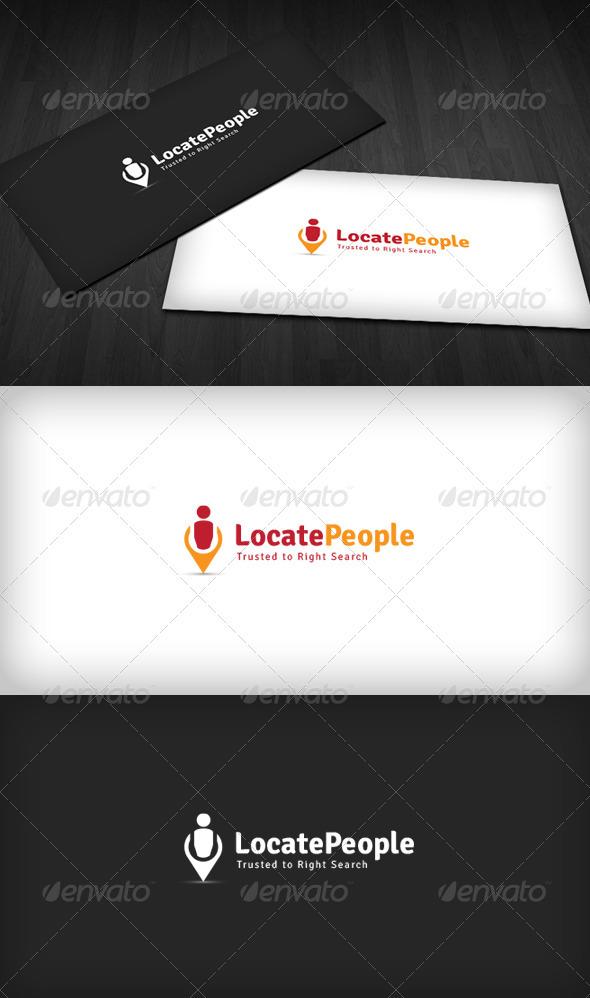 Locate People Logo - Humans Logo Templates