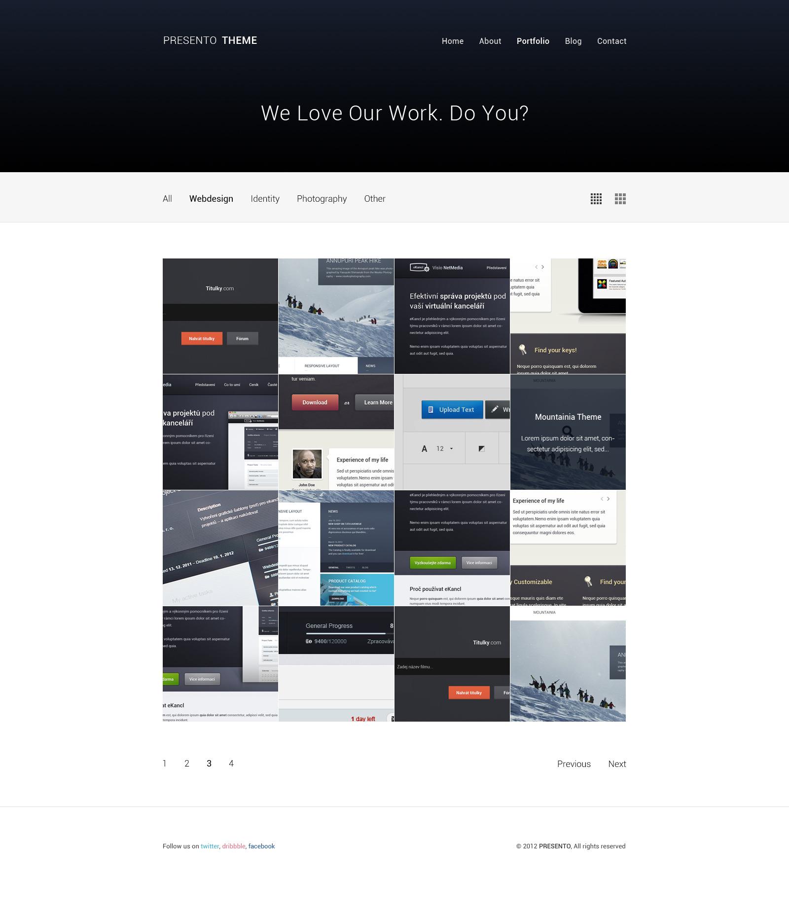 Presento - Responsive Portfolio Theme