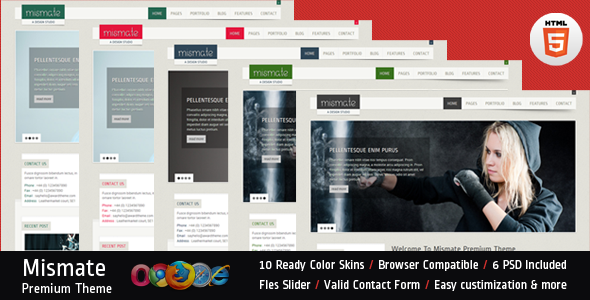 ThemeForest Mismate HTML5 Business Template 2800409