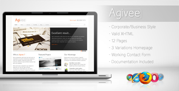 ThemeForest Agivee Corporate Business Template 78244