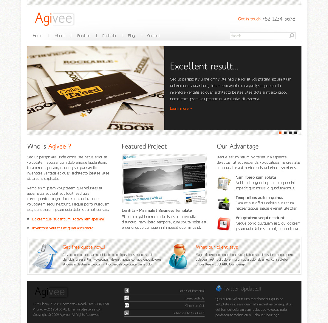Agivee - Corporate Business Template