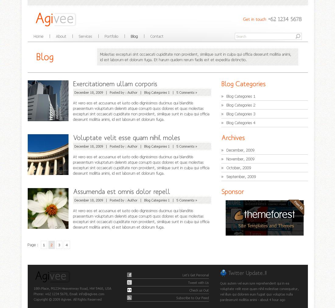 Agivee - Corporate Business Template