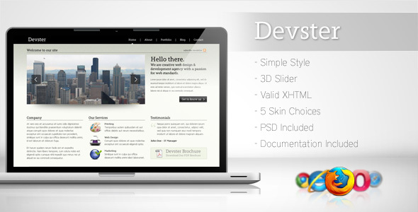 ThemeForest Devster Simple Business Template 76237