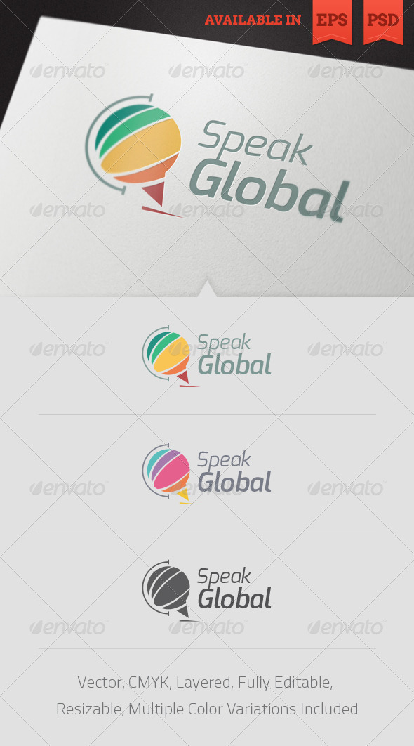 Speak Global Logo Template V2 - Objects Logo Templates