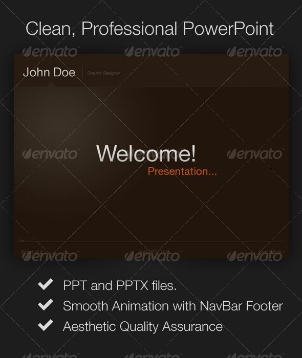 Clean, Professional Presentation - Powerpoint Templates Presentation Templates