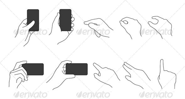 GraphicRiver Vector Hand Set 104748