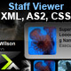 Staff Viewer - XML, AS2, CSS, FL8+ - ActiveDen Item for Sale