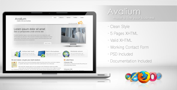 ThemeForest Avalium Clean Business Template 75336