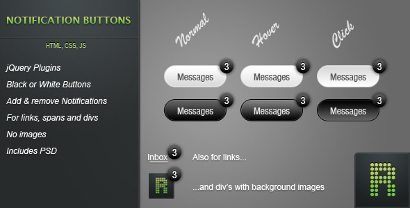 CodeCanyon Notification Buttons 303671